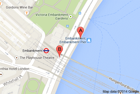 Map of Embankment Pier
