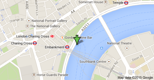 The Bateaux London Dinner Cruise - Map